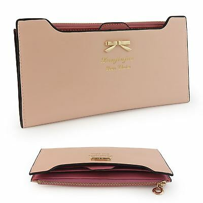 Women Lady PU Leather Wallet Purse Handbag Case Card Holder Bag Clutch Zipper UK