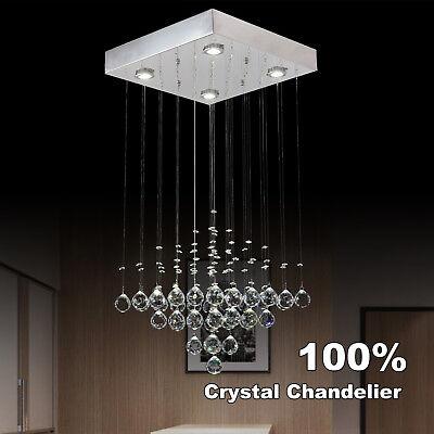 New Raindrop Stylish Crystal Pendant 4 lights LED Ceiling Light Lamp Chandelier