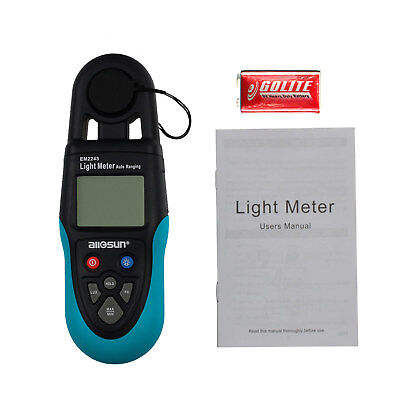 Digital Lux Meter Light Illuminance Meter With Blue Backlight Data Hold Lcd