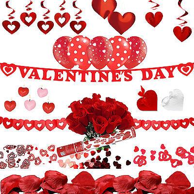 Valentinstag Girlande (Alles Für Die Liebe = Romantische Valentinstag Deko = Girlande Rose Antrag Herz)