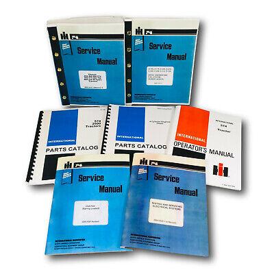 International 574 Diesel Tractor Service Manual Repair Shop Parts Catalog Set