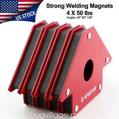 4pcs 4-inch 50lbs Welding Magnets Arrow Clamps Metal Working Mig Tools Equipment