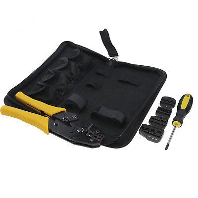 Crimper Crimp Pliers 0.5-35 Mm2 Crimping Tool Kit Ratchet 5 Spare Diesbag