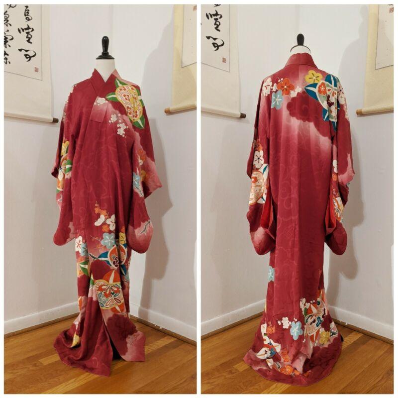 Ume Kimono   Vtg 1920