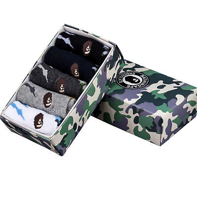 A BATHING APE Camo Bape Socks 5 Pairs Comes With Box US Shipping