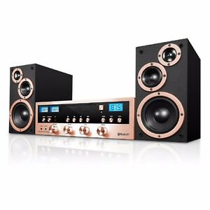 CD Stereo System Bluetooth Home Speaker Innovative Technology MP3 FM Radio AUX