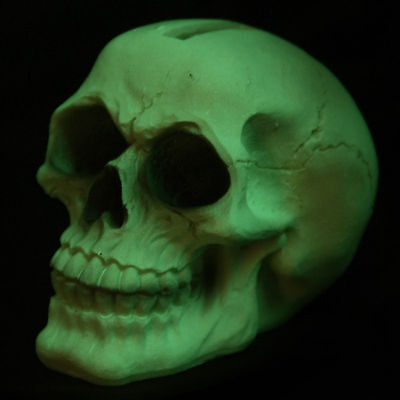 A skull money box is ideal for party tips