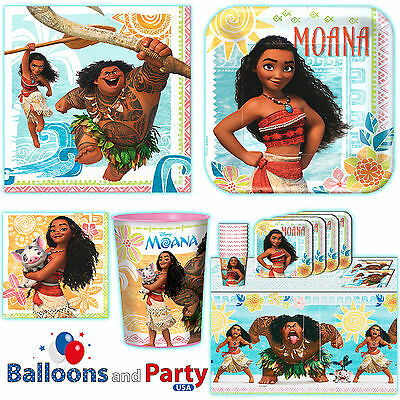 Disney Moana Movie Childs Birthday Party Tableware Decorations Supplies