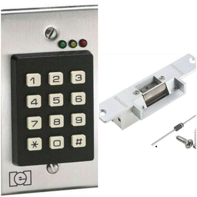 IEI 212i Flush-mount Keypad w/ UHPPOTE fail secure strike