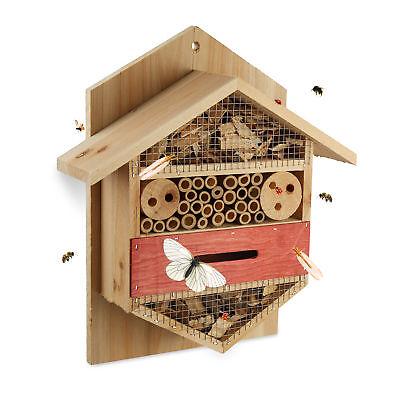 Insektenhotel sechseckig Schmetterlingshaus Bienen Marienkäfer Terrasse natur