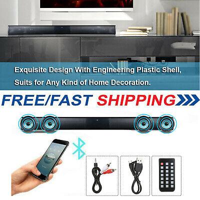 Wireless BT4.0 Soundbar Speaker TV Home Theater 3D Soundbar Bass Subwoofer Y9H9