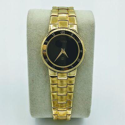 Vintage Gucci 18K Gold Plated Swiss Quartz Ladies Wrist Watch Model 3300L