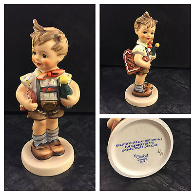 Goebel Hummel Porzellan Figur 399 Valentine joy Junge mit Herz I mag di