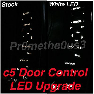 1997-2004 c5 Corvette Door Control/Switch LEDs  (Red White or Blue) SUPER BRIGHT White Control Switch