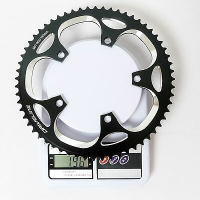 Black x White Driveline AL7075 Road Bike Bicycle TT Chainring 58T BCD 130mm