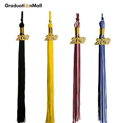 "2020 Bachelor Cap Graduation Tassel Pendant 9"" Clothing Hat Hanging 24 Colors"