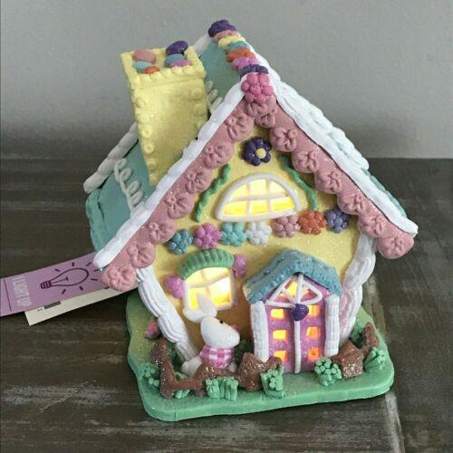 LED LIGHT UP Easter Egg Spring BUNNY RABBIT HOUSE NEW