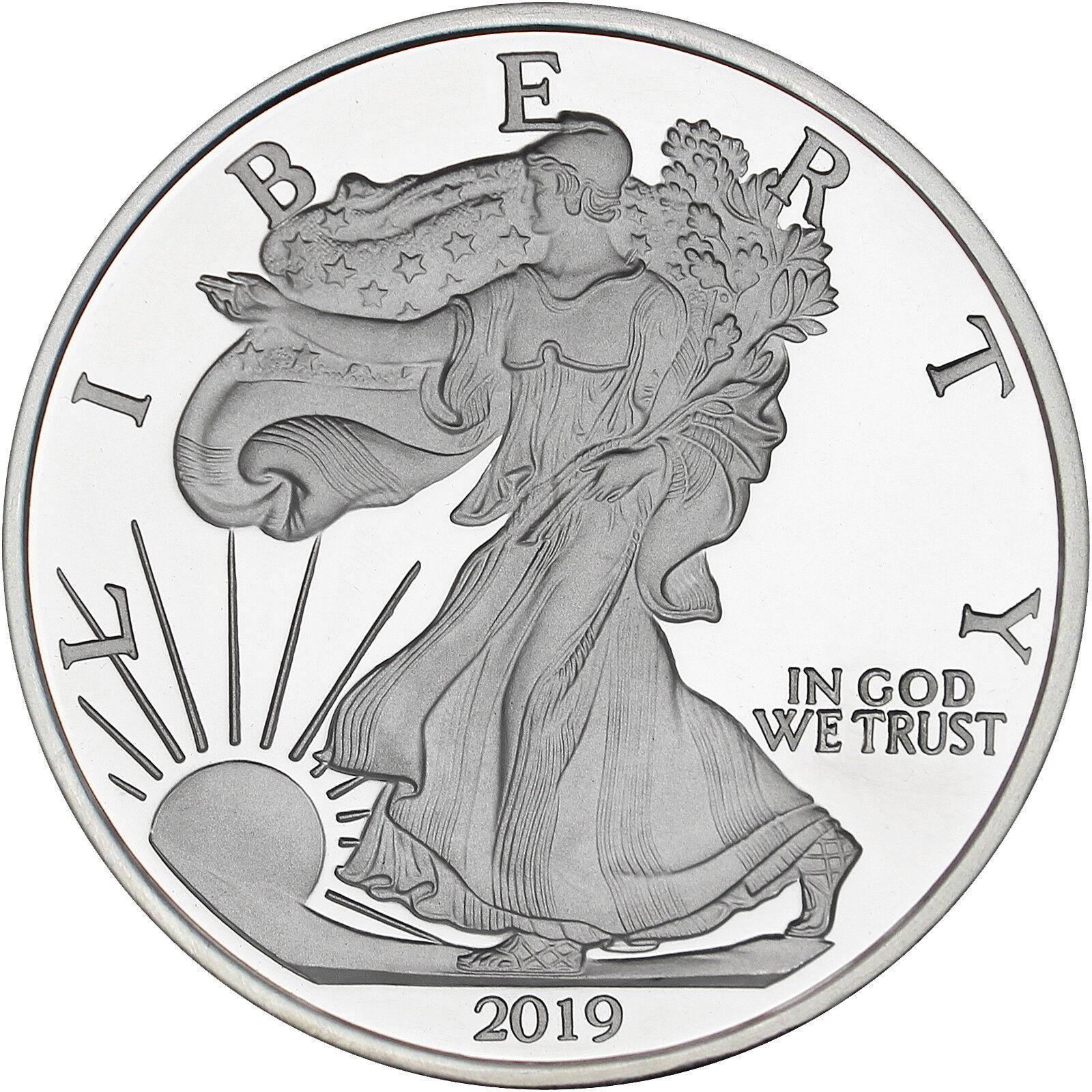 Купить Silvertowne 2019 Silver American Eagle 5oz .999 Silver Medallion