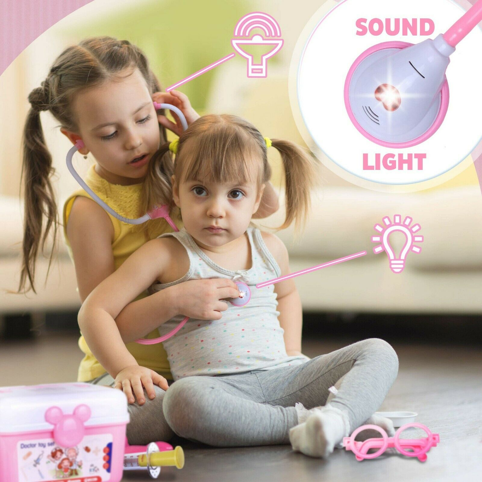 Toy Doctor Kit For Kids Toddlers Pretend Play For Girls Medical Dr Toys 31 Pcs - $23.99