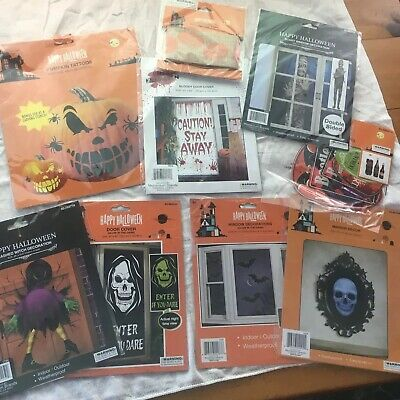 Easy Scary Halloween Decorations (HALLOWEEN HAUNTED HOUSE LOT EASY SPOOKY SCARY 10+ ITEMS SKELETONS, GHOSTS)