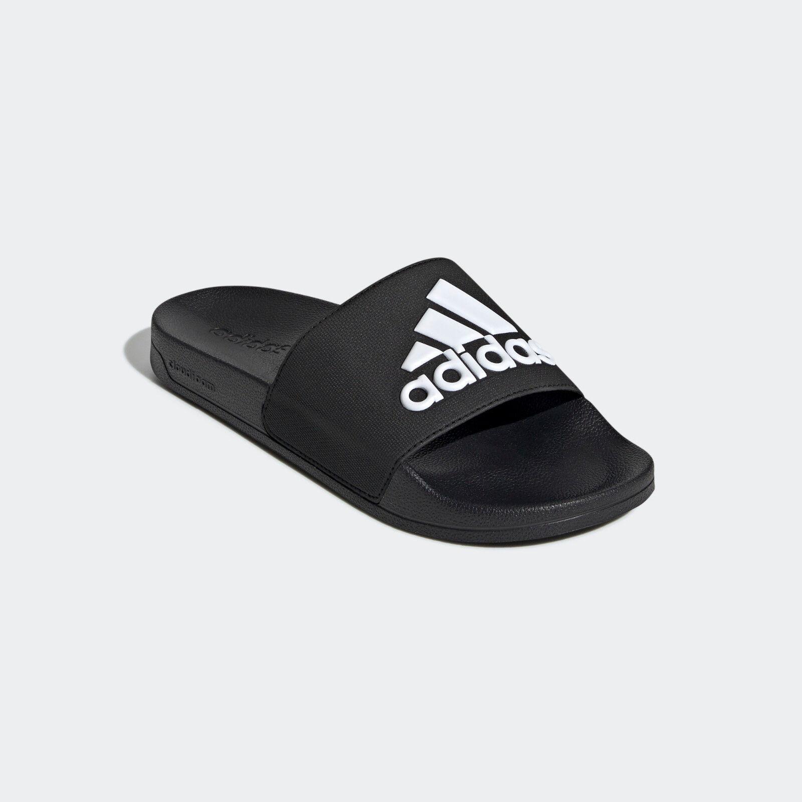 f99b6884140 Mens Adidas Adilette Black Slides Shower Sandal Athletic Sport F34770 Sizes  8-13