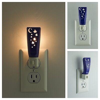 Incandescent Plug-In Stars Moon Night Light Warm White Hallway Stairs Lighting