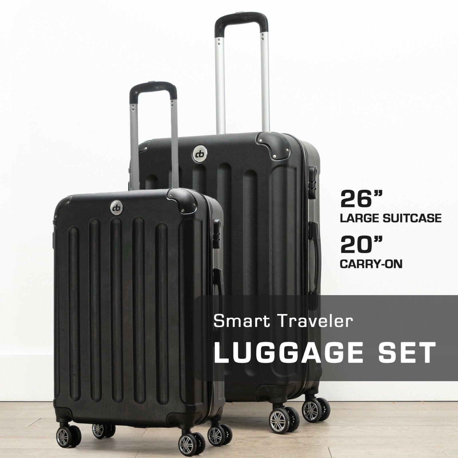 Destination Bags Hardside Spinner Roller Luggage Suit Case S