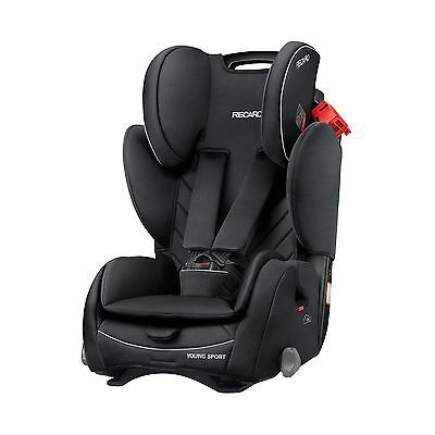 Recaro Young Sport Group 1/2/3 Child Car Seat In Performance Black - 9-36kg