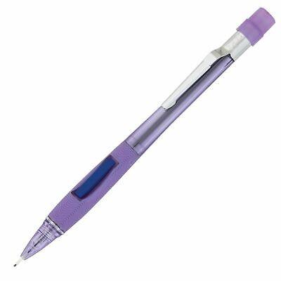 Pentel Quicker Clicker 0.7 Mm Mechanical Pencil Transparent Violet Barrel