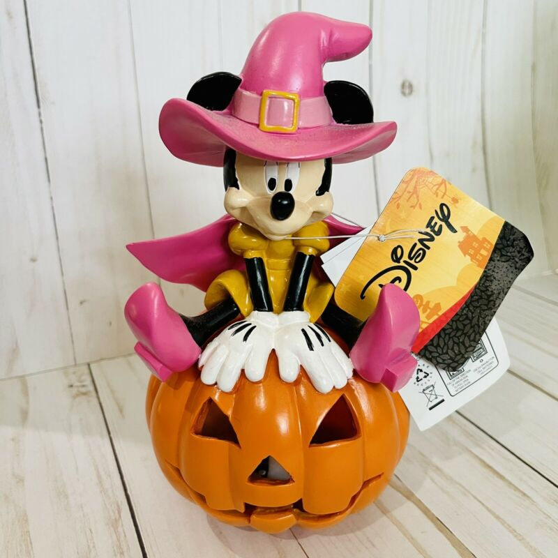 Disney Halloween Witch Minnie Mouse Pumpkin Light Up figure Boxlunch
