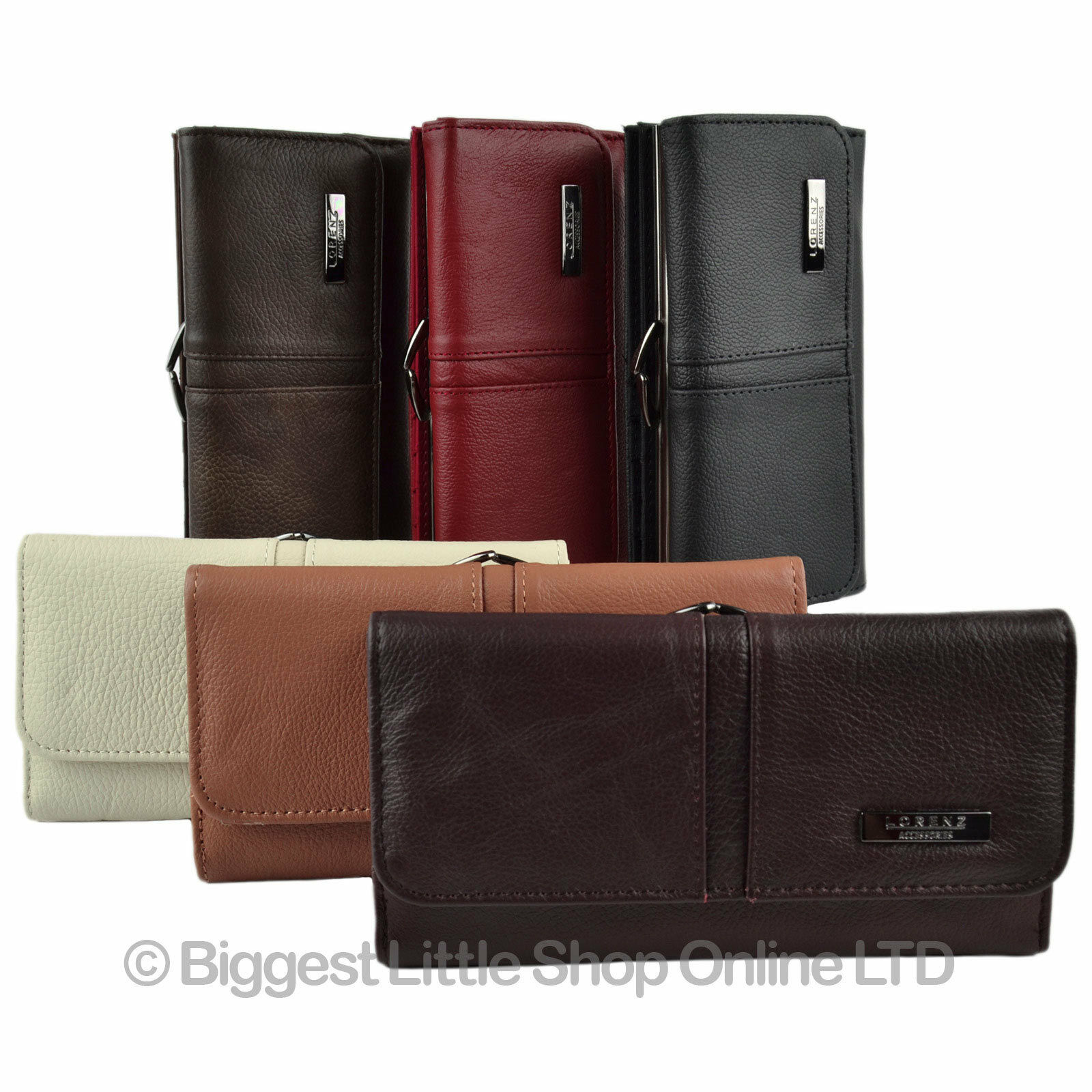4bf269d2a3 Details about Ladies Large Leather Purse Wallet Clasp Coin Section in 6  Colours Multiple Slots