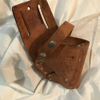 Leather drill pouch holster