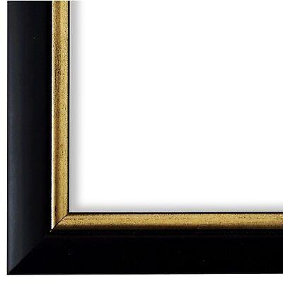 Bilderrahmen Schwarz Gold Retro Vintage Holz Perugia 3,0 - NEU alle Größen