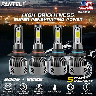 9005 9006 LED Headlight for Honda Civic 2004-2013 High Low Bulbs 3000W 450000LM