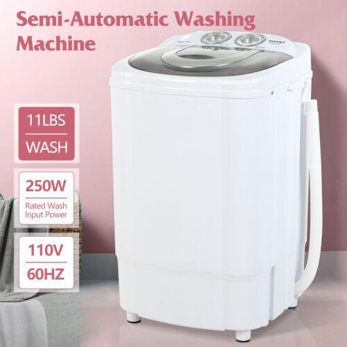 11LBS Portable Mini Washing Machine Compact Semi-Automatic L