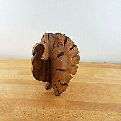 Vintage MCM Handmade Wooden Turkey Sculpture Figurine- Thanksgiving