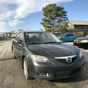 2008 MAZDA 3 LOW 135KS $3200 SAFETY INCLUDED 613-445-3555