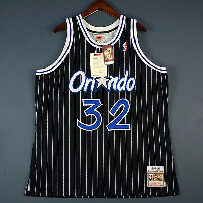 ecbcd4ec0ec3 100% Authentic Shaquille Shaq O Neal Oneal Mitchell Ness Magic Jersey Size  52