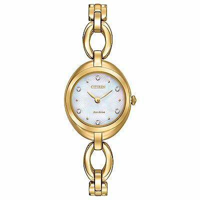 Citizen Eco-Drive Women's EX1432-51D Silhouette Swarvoski Crystals Bangle Watch
