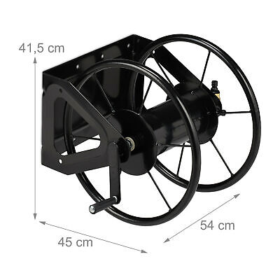 Hosepipe Reel Wall-mounted Hose Pipe Holder Garden Hose Storage