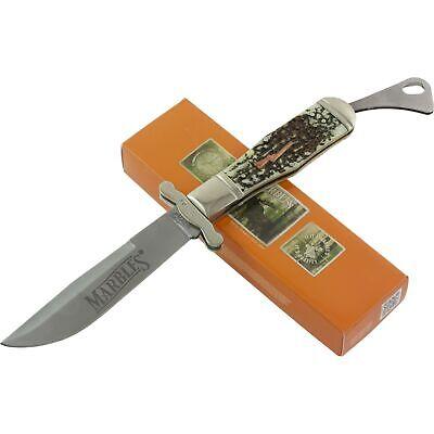 - Marbles Imitation Stag Handles Safety Folder Pocket Knife MR416 Drop Point Blade