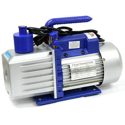 Two Stage 7 Cfm 34 Hp Rotary Vane Deep Vacuum Pump 110v 60hz Hvac Ac Tool
