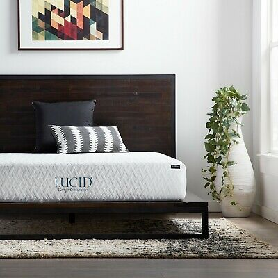 LUCID Comfort Collection 10 inch Gel Memory Foam Mattress - Plush, Medium, Firm