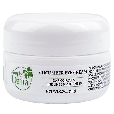Simply Dana Cucumber Eye Cream Reduce Dark Circles & Puffiness 0.5 oz (15g)