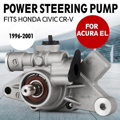 (New Power Steering Pump For 96-00 Honda Civic 97-01 CRV CR-V Acura EL 1.6L 2.0L)