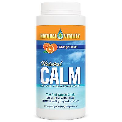 Natural Vitality Natural Calm  Orange Flavor 16 Oz