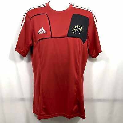 b1562e96533 Adidas Munster Rugby Ireland Jersey Men's Size L Red Fitted Stretch Fit