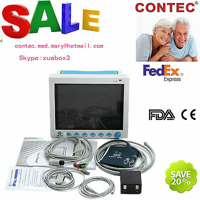 Icu Ccu Patient Monitor Vital Signs 6-parameter Portable Medical Machine Cms8000