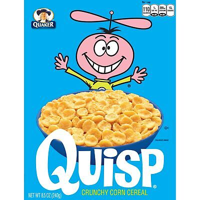 Quaker Quisp Breakfast Cereal, 8.5 oz, 12 Boxes