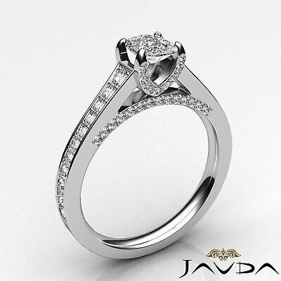 Bridge Accent Micro Pave Set Cushion Diamond Engagement Ring GIA H VS1 1.25 Ct 8
